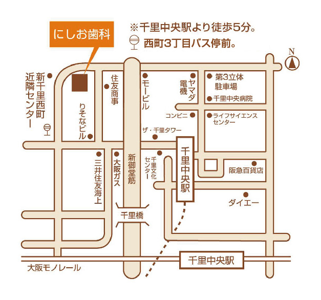 にしお歯科 地図